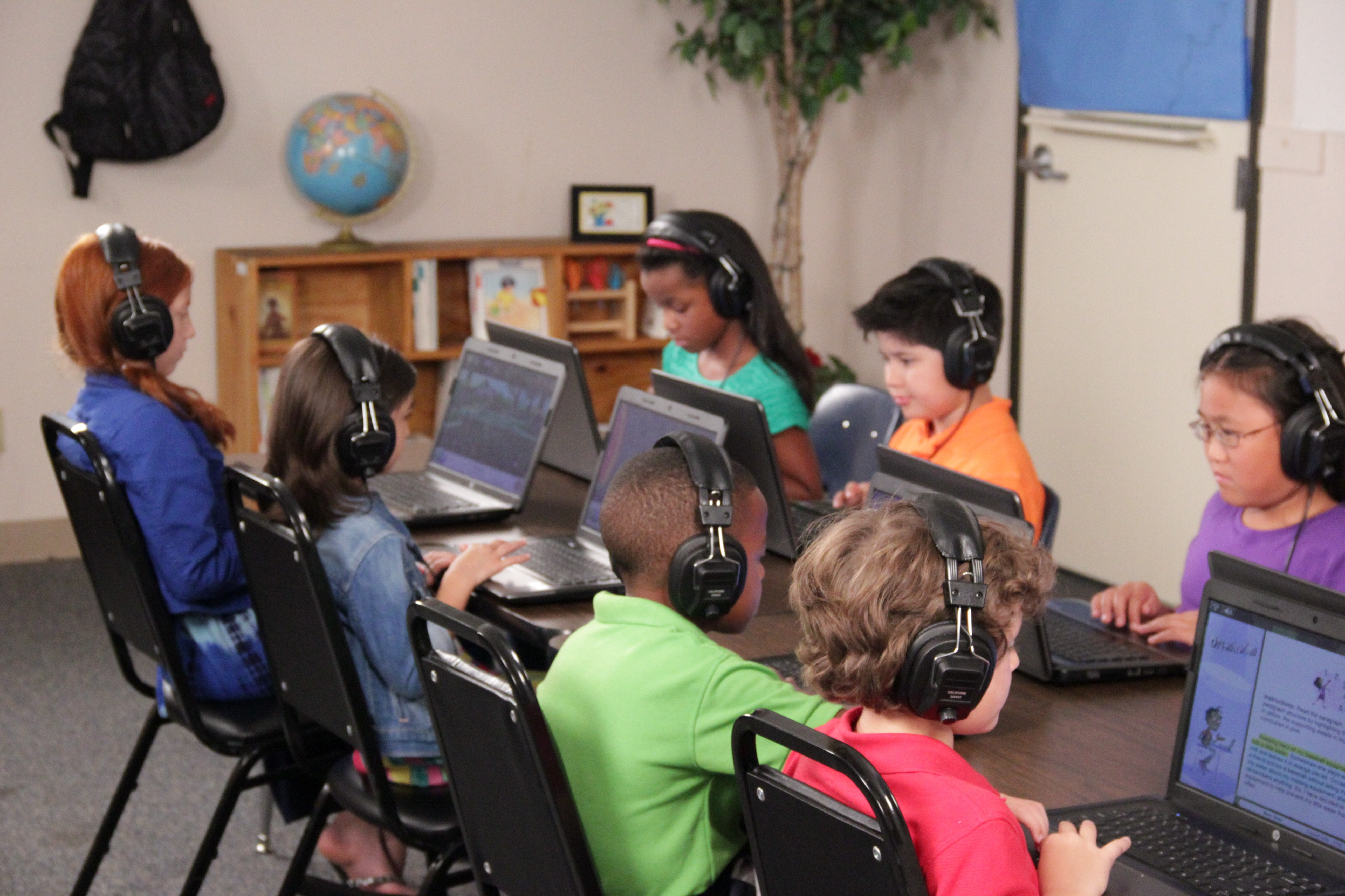 Students using Istation